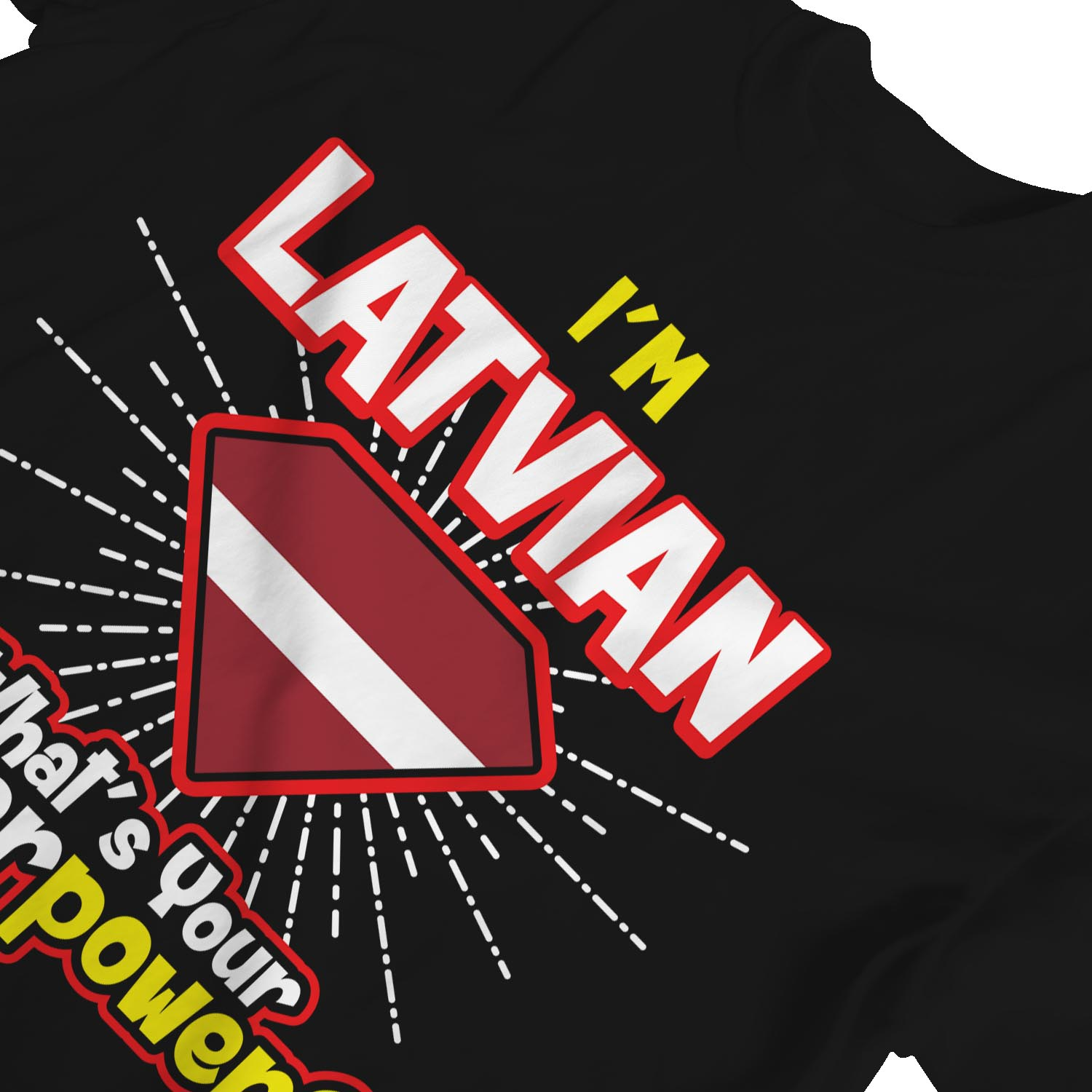 1Tee Womens I/'m Latvian What/'s Your Superpower T-Shirt