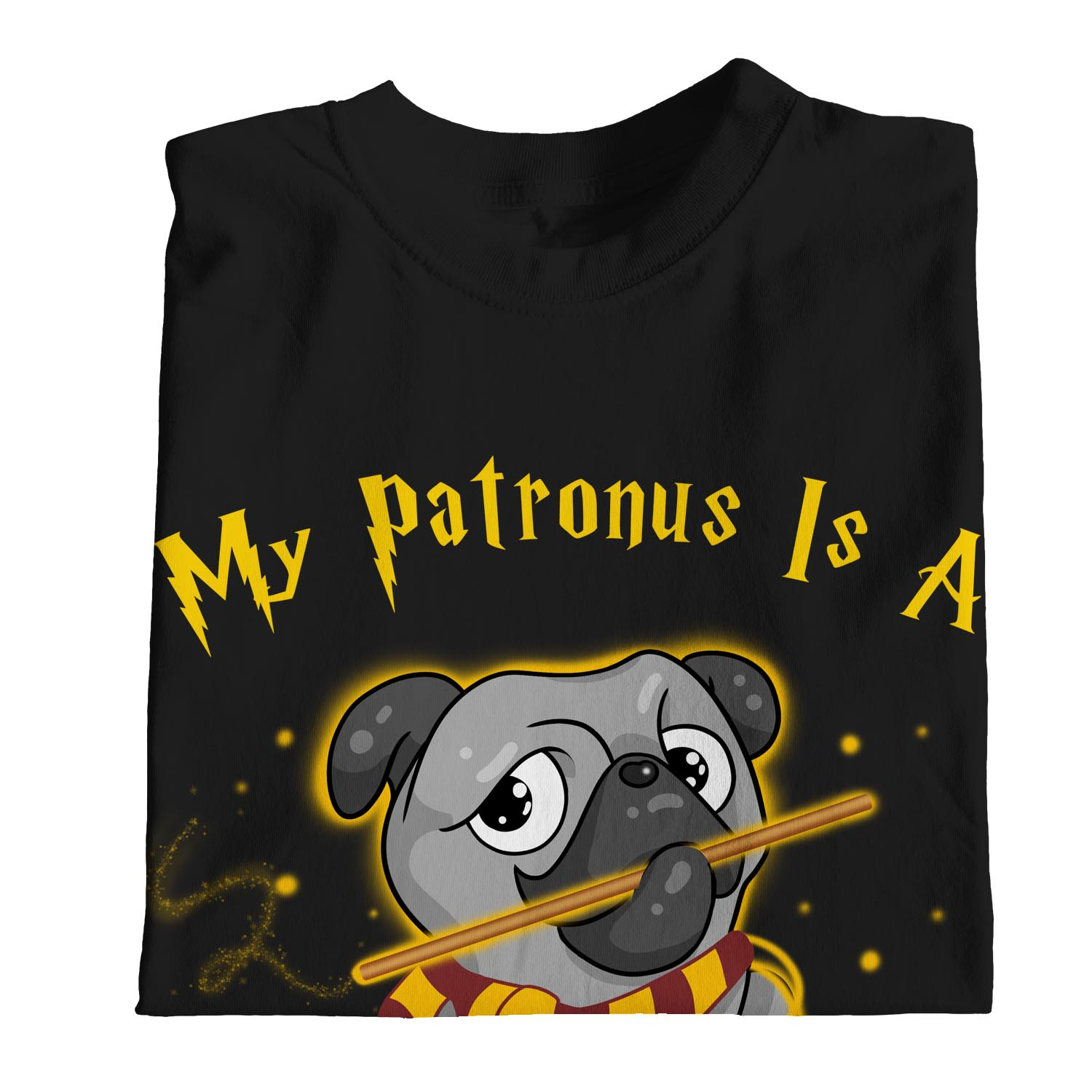 1Tee Womens Loose Fit My Patronus Is A Pug Dog T-Shirt